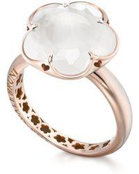 Pasquale Bruni - 18k Rose Gold Floral Milky Quartz Ring - Lyst