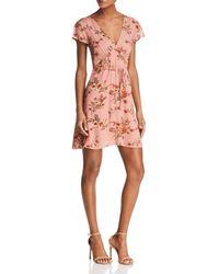 Re:named - Kelsi Floral Belted Dress - Lyst