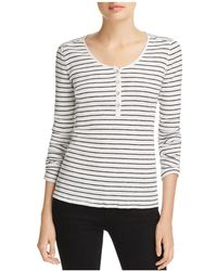 Rag & Bone - Lilies Striped Henley Top - Lyst