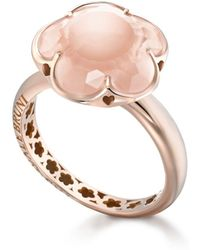 Pasquale Bruni - 18k Rose Gold Floral Rose Quartz Ring - Lyst