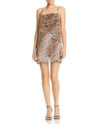 Re:named - Leopard-print Mini Dress - Lyst