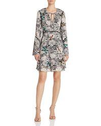 Sam Edelman - Printed Bell-sleeve Dress - Lyst