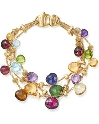 Marco Bicego - 18k Yellow Gold Paradise Three Strand Gemstone Bracelet - Lyst