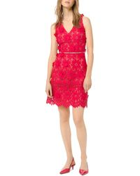 MICHAEL Michael Kors Floral Appliqué Lace Dress