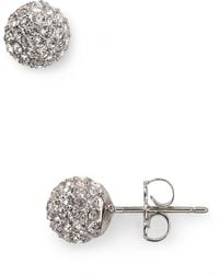 Nadri - Small Crystal Ball Earrings - Lyst
