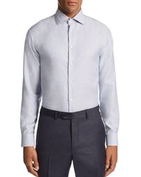 Emporio Armani - Stitched-stripe Tailored Fit Shirt - Lyst