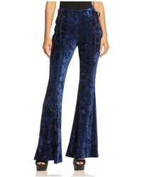 Band Of Gypsies - Crushed Velvet Flare Trousers - Lyst