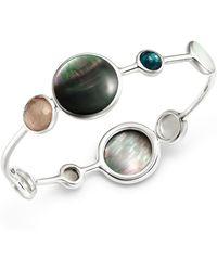 Ippolita - Clear Quartz & Black Shell Bangle Bracelet - Lyst