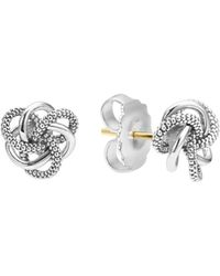 Lagos - Sterling Silver Love Knot Stud Earrings - Lyst