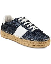Marc Fisher - Women's Margo Glitter Leather Lace-up Espadrille Trainer - Lyst