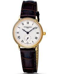 """Frederique Constant - Frédérique Constant """"slim Line"""" Quartz Watch, 28mm - Lyst"""