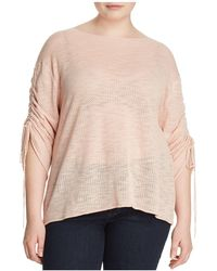 Vince Camuto Signature - Pointelle Knit Drawstring-sleeve Top - Lyst