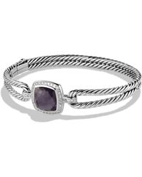 David Yurman | Albion Bracelet With Black Orchid And Diamonds | Lyst