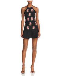 Karina Grimaldi | Benita Beaded-floral Silk Mini Dress | Lyst