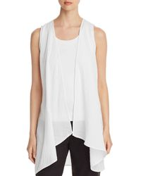 Eileen Fisher - Long Open Vest - Lyst