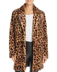 Re:named - Kimora Faux-fur Leopard Coat - Lyst