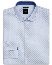 W.r.k. | Geometric Grid Slim Fit Dress Shirt | Lyst