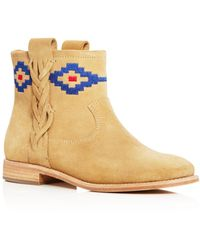 Soludos - Embroidered Booties - Lyst