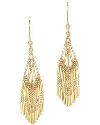 Bloomingdale's - 14k Yellow Gold Beaded Dangle Earrings - Lyst