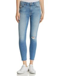 Mother - Looker Ankle Fray Skinny Jeans In Love Gun - Lyst