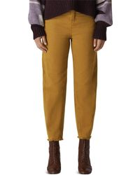 Whistles - High Rise Barrel-leg Jeans In Camel - Lyst