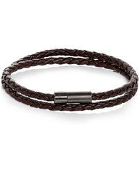 Tateossian - Double Wrap Woven Leather Bracelet - Lyst