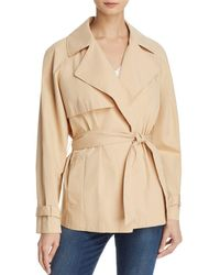 FRAME - Cropped Trench Coat - Lyst