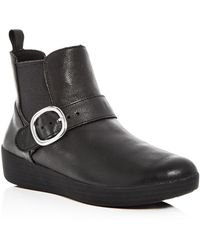 Fitflop | Women's Superbuckle Leather Chelsea Booties | Lyst