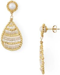 Dana Kellin - Bead & Organic Freshwater Pearl Drop Earrings - Lyst