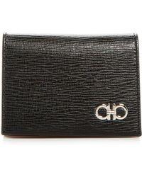 Ferragamo - Revival Gancini Leather Bi-fold Card Case - Lyst