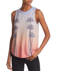 Chaser - Sunset Palms Ombré Graphic Tank - Lyst