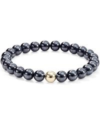Aqua - Gold Beaded Stretch Bracelet - Lyst