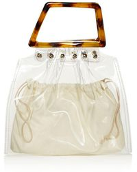 Aqua - Clear Tote With Tortoise Handles - Lyst