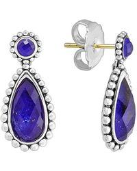 Lagos - Sterling Silver Lapis Doublet Drop Earrings - Lyst