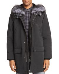 ad8a1c4a1827 Lyst - Yves Salomon Rabbit Fur-Trimmed Military Parka in Green for Men