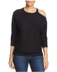 Minnie Rose - Cold-shoulder Sweater - Lyst