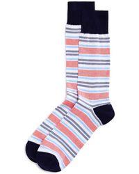Bloomingdale's - Birdseye Striped Socks - Lyst