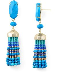 Kendra Scott - Dove Tassel Drop Earrings - Lyst