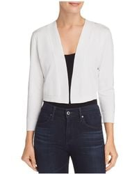 Aqua - Three-quarter Sleeve Shrug - Lyst