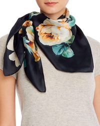 Echo - Floral Bloom Silk Square Scarf - Lyst