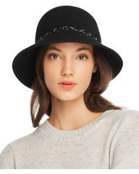 4469b153c64 August Hat Company - Feelin It Chain-trim Wool Cloche - Lyst