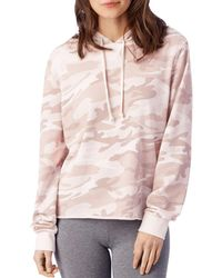 Alternative Apparel - Day Off Camo Hooded Sweatshirt - Lyst