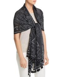 Rebecca Minkoff - Studded Floral Oblong Scarf - Lyst