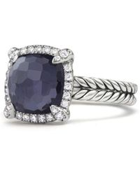 David Yurman - Châtelaine Pavé Bezel Ring With Black Orchid And Diamonds - Lyst