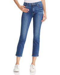 PAIGE - Jacqueline Straight-leg Jeans In Medium Blue - Lyst