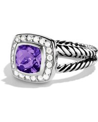 David Yurman - Petite Albion Ring With Amethyst & Diamonds - Lyst
