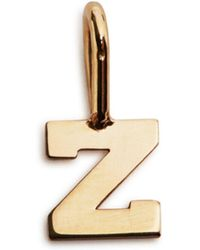Zoe Chicco - 14k Yellow Gold Initial Charm - Lyst