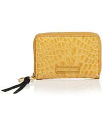 Elizabeth and James - Zip Embossed Leather Card Case - Lyst