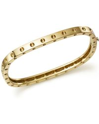 Roberto Coin - 18k Yellow Gold Pois Moi Single Row Bangle - Lyst