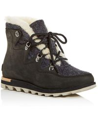 258662b86c3 Sorel - Women s Sneakchic Alpine Holiday Shearling Waterproof Cold-weather  Boots - Lyst